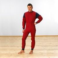 Pijama unisex de punto con dos cremalleras