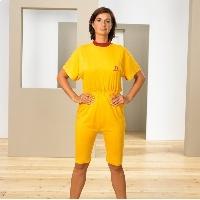 Pijama unisex con manga y pantalón corto