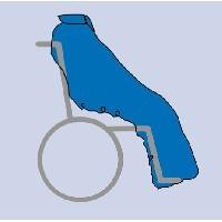 Saco para usuario de silla de ruedas sin mangas. INVIERNO