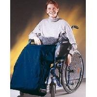 Cubre-piernas completamente cerrado en azul royal para niño
