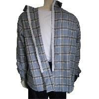 Camisa de vestir adaptada de manga larga con cierres espalda