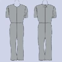 Mono anti-rasgaduras manga corta, pantalón largo