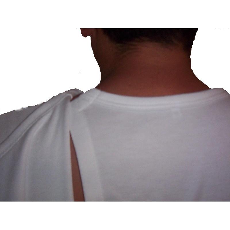 Camiseta interior adaptada manga corta hombre