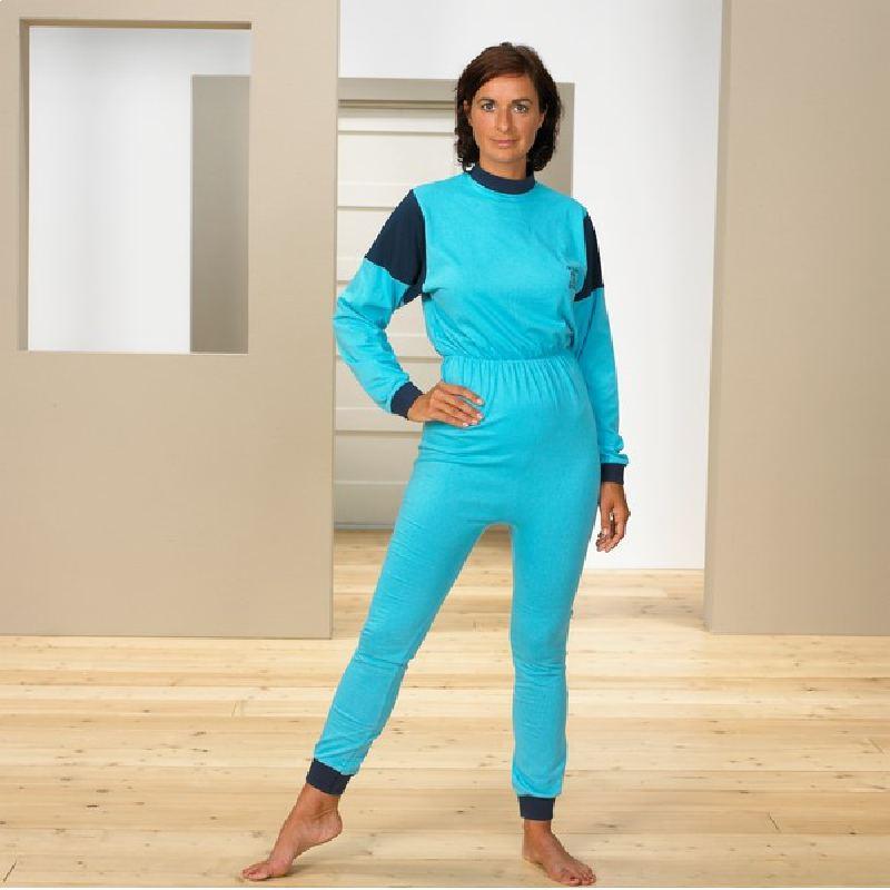 Pijama unisex en interlock con cremallera