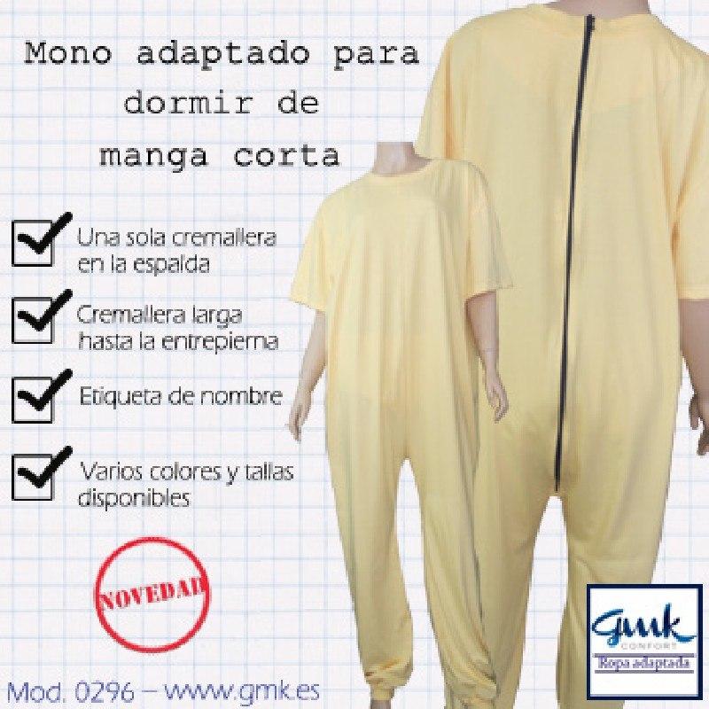 Mono para dormir con una sola cremallera manga corta SEÑORA