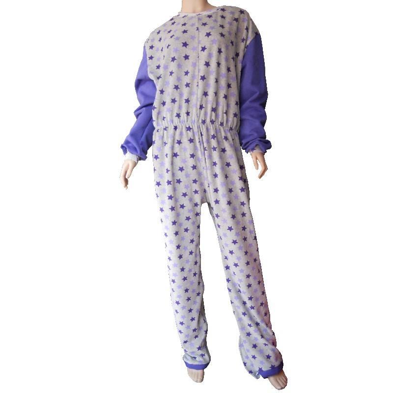 Pijama para incontinencia infantil con dos cremalleras